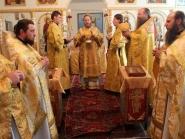 Архиерейское богослужение в престольный праздник во главе с владыкой Никодимом