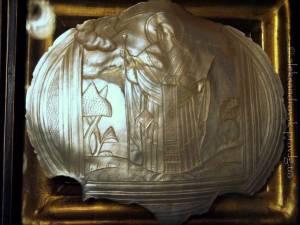 икона святого апостола Иакова, брата Господня на резном перламутре (20х20см), которая ранее принадлежала патриарху Московскому и всея Руси Алексию I (Симанскому)