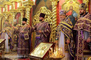 Богослужение в день памяти святых мучеников Маккавеев в храме Всех Святых г.Луганска