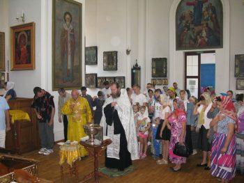 Молебен перед началом учебного года, Свято-Вознесенский храм, Александровск, 26 августа 2018 г.