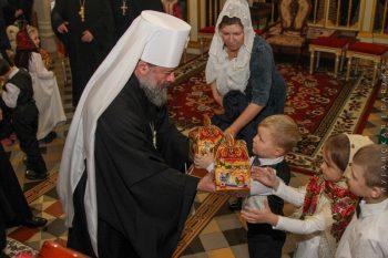 7 января 2019 года в Луганском кафедральном соборе состоялась великая вечерня и вечер колядок