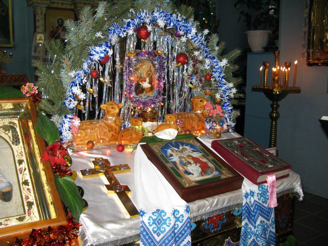 Престольный праздник в храме Архидьякона Стефана, Славяносербск, 9.01.2020
