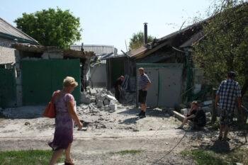 Обстрел города Александровск, 4 июля 2014 г.