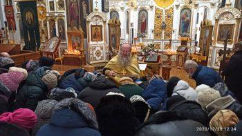 Молебен о прекращении вредоносного поветрия в Свято-Вознесенском сборе, г.Александровск