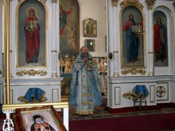 Возглавил праздничное Богослужение протоиерей Иаков Лобов