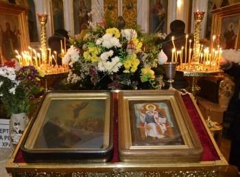 Престольный праздник в честь Спиридона Тримифунтского в Свято-Вознесенском храме г. Александровска
