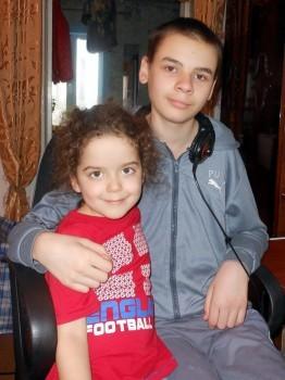 Давид со своей сестрой