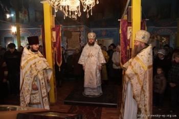 Соборная заупокойная литургия в Свято-Благовещенском храме, г.Красный Луч, 2 ноября 2013 года