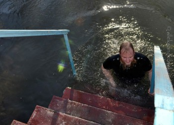 А ведь река Лугань в Александровске чем-то похожа на Иордан, особенно в эти Богоявленские дни!