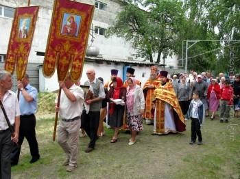 Крестный ход вокруг Свято-Владимирского храма