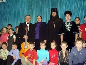 Рождественские встречи со школьниками Александровска, 15.01.2014