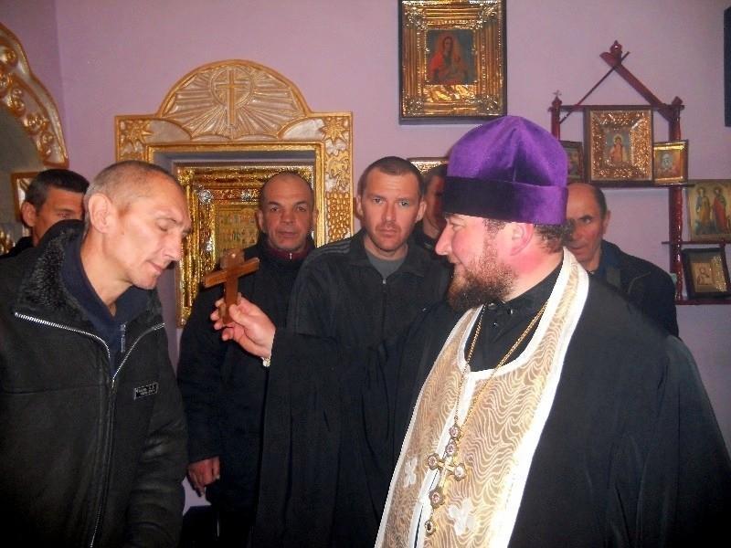 Протоиерей Валерий Лысенко в Славяносербской исправительной колонии