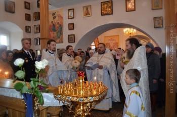 Богослужение возглавил протоиерей Александр Устименко